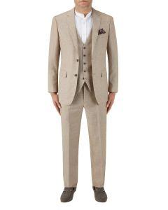 Lagasse Linen Blend Suit Stone