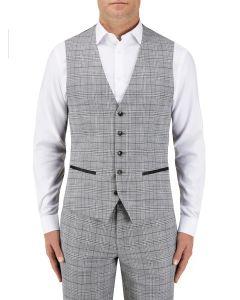 Keenan Suit Waistcoat Silver / Grey Check