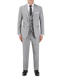 Keenan Suit Silver / Grey Check