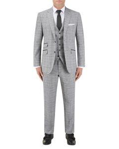 Keenan Check Suit Silver / Grey