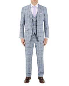 Stark Suit Grey / Blue Check