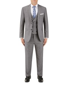 Harcourt Slim Suit Silver