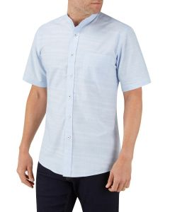 Blue Linen Look Casual Shirt
