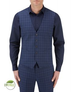 Angus Suit Waistcoat Blue Check