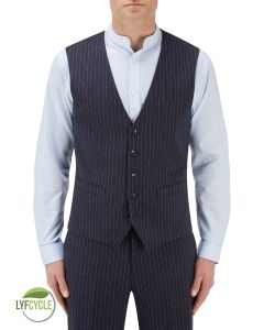McDonald Suit Waistcoat Blue Stripe