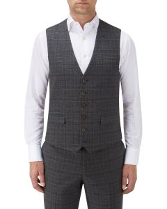 Stelling Suit Waistcoat Charcoal Check