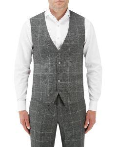 Tudhope Suit SB Waistcoat Charcoal Check