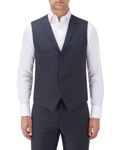 Whelan Suit Waistcoat Navy Check