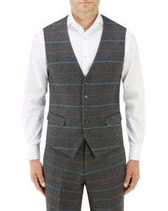 Doyle Suit Waistcoat Grey Check