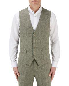 Jude Suit Waistcoat Sage Herringbone