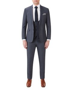 Harcourt Slim Suit Blue