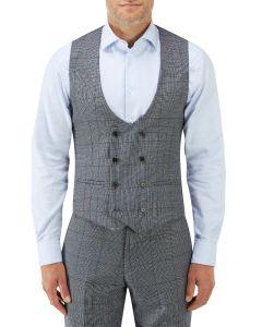 Tudhope Suit DB Waistcoat Blue Check