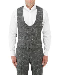 Tudhope Suit DB Waistcoat Charcoal Check