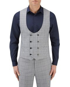 Anello Suit DB Waistcoat Grey Check