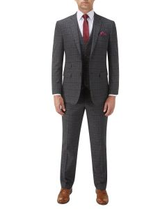 Lynham Suit Charcoal Check