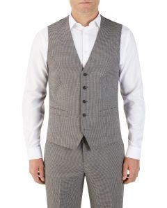 Danko Suit Waistcoat Brown Navy Puppytooth