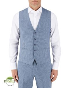 Pepe Suit Waistcoat Blue Check