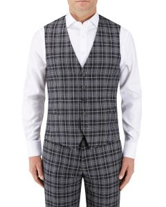 Kiefer Suit SB Waistcoat Black / Grey Check