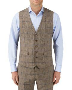 Welburn Suit Waistcoat Brown Check
