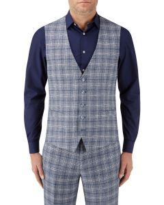 Camini Suit Waistcoat Blue Check