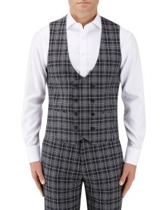 Kiefer Suit DB Waistcoat Black / Grey Check