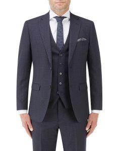 Mac Slim Suit Jacket Navy / Grey Check