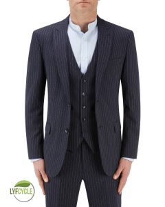 McDonald Suit Jacket Blue Stripe