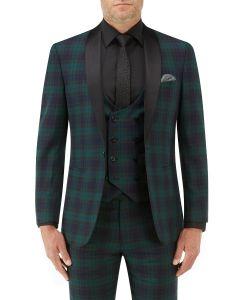 Sanchez Suit Jacket Navy / Green Check