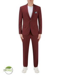 Sultano Slim Suit Brick Red