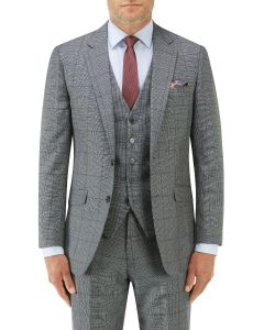 Tudhope Tailored Suit Jacket Blue Check
