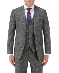 Tudhope Tailored Suit Jacket Charcoal Check