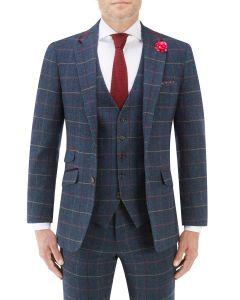 Doyle Suit Jacket Navy Check