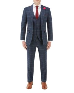 Doyle Suit Navy Check