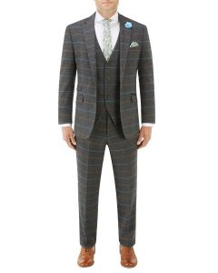 Doyle Suit Grey Check