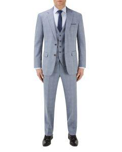Silva Suit Ice Blue Check