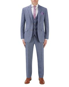 Jude Suit Blue Herringbone