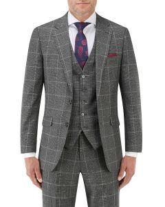 Tudhope Slim Suit Jacket Charcoal Check