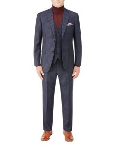 Rostrevor Suit Navy Check