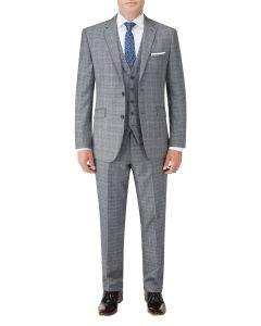 Kolding Tailored Suit Grey / Blue Check