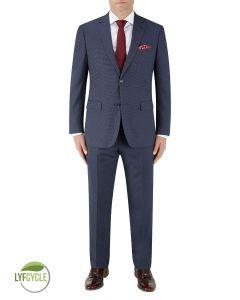 Gambino Suit Navy Birdseye