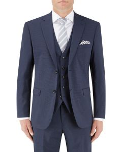 Persico Suit Jacket Navy Micro Check