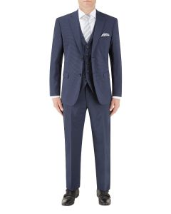 Persico Suit Navy Micro Check
