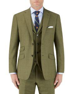 Moonen Suit Jacket Olive Check