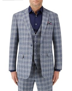 Camini Suit Jacket Blue Check