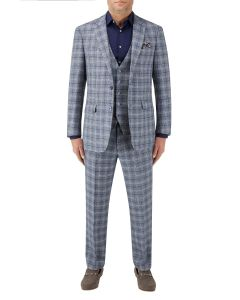 Camini Suit Blue Check