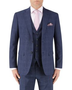 Torrente Check Suit Jacket Navy Check
