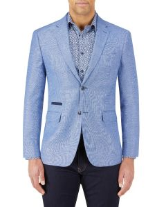 Bonucci Linen Blend Jacket Blue