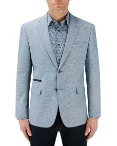 Dengel Cotton / Linen Blend Jacket Blue