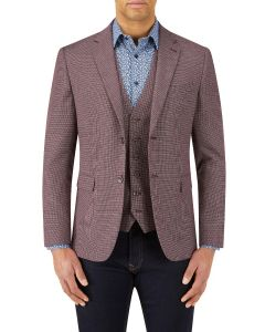 Rugani Micro Weave Jacket Berry