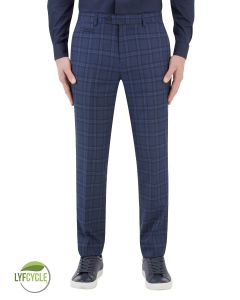 Angus Suit Slim Trouser Blue Check